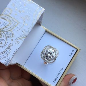 Charter club CZ ring. Size 10